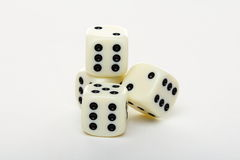 Four dice on a white background. Royalty Free Stock Images