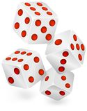 Four dices for dribbling Stock Image