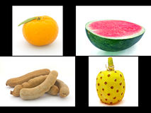 Four differance fruit Stock Photo