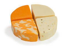 Four Differenct Pieces of Cheese Stock Image