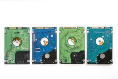 Four Different 2.5 Inch Laptop HDD`s. Stock Photo