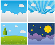 Four different background scenes Stock Image