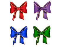 Four different bows Stock Images