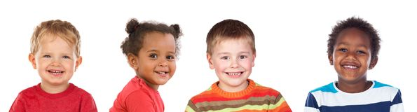 Four different children Royalty Free Stock Image