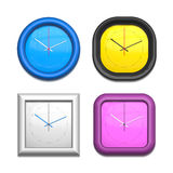 Four different clocks Royalty Free Stock Images