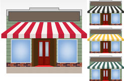 Four different color  awnings Royalty Free Stock Images