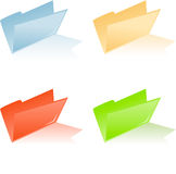 Four different colored file folder Royalty Free Stock Image