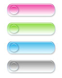Four different colored web buttons Royalty Free Stock Image