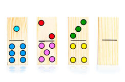 Four different dominoes Royalty Free Stock Photography