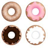 Four different donuts Royalty Free Stock Image