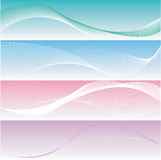 Four different elegant and smooth banners Royalty Free Stock Images