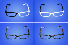 Four different glasses Stock Photography