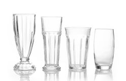 Four different glasses Royalty Free Stock Images