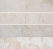Four different high quality marble with natural pattern. Royalty Free Stock Photo