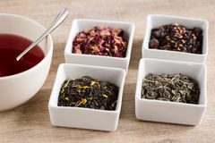 Four different kind tea Stock Images