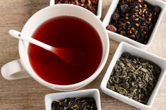 Four different kind tea Royalty Free Stock Photo