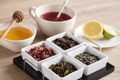 Four different kind tea Royalty Free Stock Photos