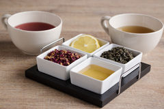 Four different kind tea Stock Photos