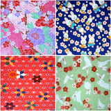 4 Washi Patterns Royalty Free Stock Image
