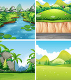 Four different nature scenes Royalty Free Stock Photography