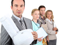 Four different occupations. From different sectors Stock Photos