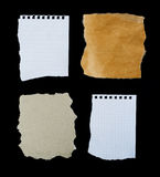 Four Different Paper Pieces. Stock Photography