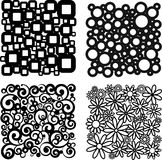 Four different patterns Stock Photo