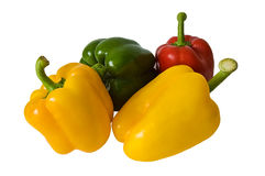 Four Different Peppers Royalty Free Stock Photography