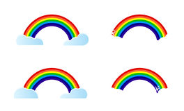 Four different rainbows Royalty Free Stock Photos