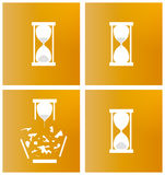 Four different sandglasses Royalty Free Stock Image