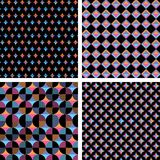 Four different seamless geometric composition Royalty Free Stock Photos