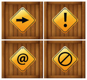Four different signs Stock Photo