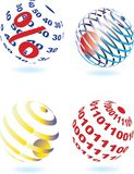 Four different sphere Royalty Free Stock Images