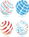 Four different sphere No. 2 Stock Images
