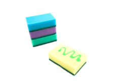 Four different sponges Royalty Free Stock Photography