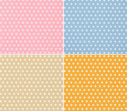 Four different stylish dotted backgrounds Royalty Free Stock Image