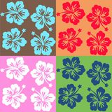 Four different surf patterns Royalty Free Stock Image