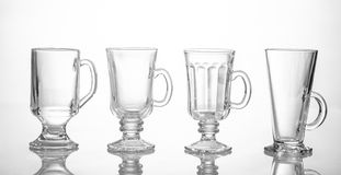 Four different tea glasses Royalty Free Stock Image