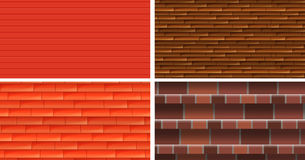 Four different texture backgrounds Stock Image