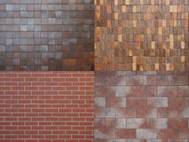 Four different tile textures. Royalty Free Stock Images