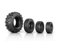 Four different tread standing Royalty Free Stock Images