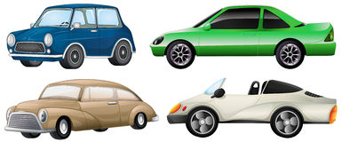 Four different types of cars Stock Photos