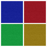 Four different wool textures Stock Photography