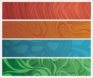 Four differently ornamented banners. File contains layer system for easy editing Royalty Free Stock Photos
