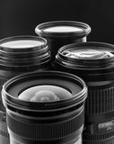 Four digital camera lenses Royalty Free Stock Image