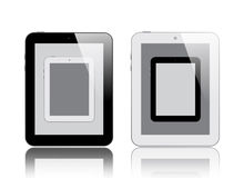 Four Digital Tablets Stock Photography