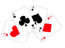 Four dinghies. Design cards for hazard playing on white background Royalty Free Stock Photo