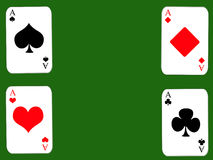 Four dinghies. Design cards for hazard playing on white background Royalty Free Stock Photography