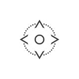 Four direction arrows control buttons line icon, outline vector Stock Photography