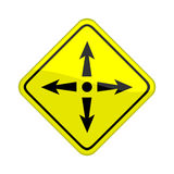 Four directions Royalty Free Stock Image